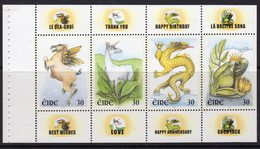 Ireland 2000 Greetings Stamps Booklet Pane, MNH, SG 1295/8 - 1949-... Republic Of Ireland