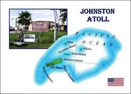 Johnston Atoll Map New Postcard Landkarte - Ansichtskarten