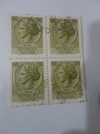 FRANCOBOLLI IN QUARTINA 50 LIRE -1978 - 6. 1946-.. Repubblica