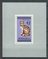 Mongolia 1987 Mi Block 122 MNH CATS - Gatos Domésticos