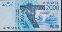 W.A.S. BURKINA FASO  P316Cl  2000 FRANCS (20)12 Date 2012  UNC. - Burkina Faso