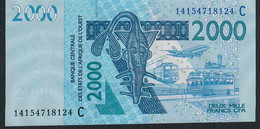 W.A.S. BURKINA FASO P316Cn 2000 FRANCS (20)14  Date = 2014 UNC. - Burkina Faso