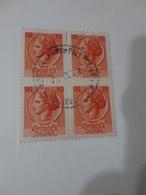 FRANCOBOLLI IN QUARTINA 10 LIRE - 6. 1946-.. Repubblica