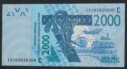 W.A.S. C = BURKINA FASO P316Co 2000 FRANCS (20)15 Date = 2015   UNC. - Burkina Faso