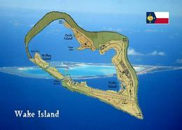Wake Island Map New Postcard Insel Landkarte AK - Ansichtskarten