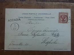 REGNO - Cartolina Con Bollo Da Datario Muto Piccolo + Località + Spese Postali - Storia Postale