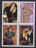Ireland 2000 Oscar Wilde Death Centenary Block Of 4, MNH, SG 1309/12 - 1949-... Republic Of Ireland