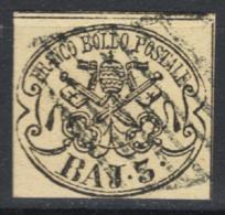 Stato Pontificio 1852 Sass.4A O/Used VF/F - Stato Pontificio
