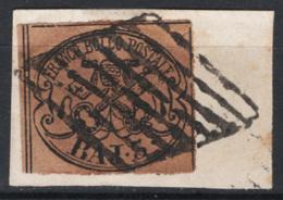 Stato Pontificio 1852 Sass.4Aa O/Used VF/F - Stato Pontificio