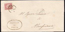 ITALY ITALIA 1875. Busta 2C, FOGGIA TO MANFREDONIA - Usati