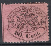 Stato Pontificio 1867 Sass.31 */MH VF/F - Etats Pontificaux