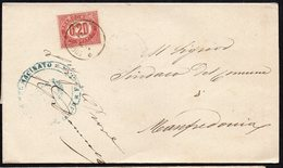 ITALY ITALIA 1876. Busta 2C, FOGGIA TO MANFREDONIA - Usati