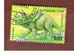 TAJIKISTAN   - SG 54 - 1994  PREHISTORIC ANIMALS: TRICERATOPS  -   USED - Tagikistan