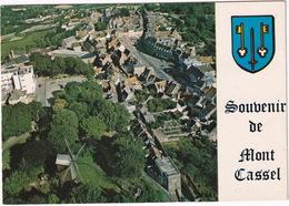 Mont-Cassel - Vue Aérienne Avec Le Moulin Et La Grand' Place - (Nord) - Cassel