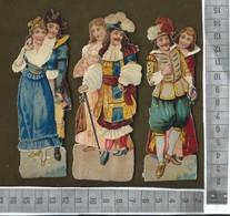 CHROMO DECOUPIS  / LOT DE 3 COUPLES TENUE D'AUTREFOIS - Victorian Die-cuts