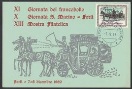 IN130   SAN MARINO Italy 1969  Stagecoaches, Diligences, Kutschen - Diligences