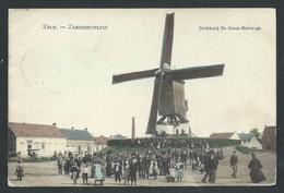 +++ CPA - ZELE - Zandbergplein - Moulin - Molen - Couleur 1909 - Carte Animée - Top !!!   // - Zele