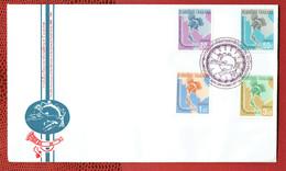 Thailande - N°425/428 - Série Complète U.P.U. - FDC De 1965 - Avec La Carte D'origine à L'interieur. - Thaïlande