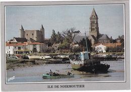 Noirmoutier - Dominant Le Port, Le Chateau Féodal Et L'eglise St-Philibert -  (Vendée) - Ile De Noirmoutier