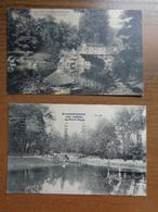 2 Cartes De Schaerbeek, Parc Josephat, La Nouvel Etang + Pont Rustique --> Beschreven - Schaerbeek - Schaarbeek