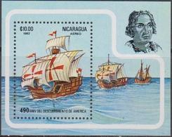 NICARAGUA 1982 Colombo Ship - MNH Set - Nicaragua