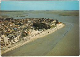 Le Crotoy - Vue Générale : La Plage, Le Casino, L'Eglise, à Arrière Plan, La Baie De Somme - Le Crotoy
