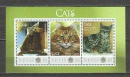 Nevis - MNH Sheet CATS - Domestic Cats