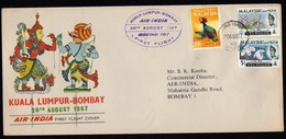 Malaysia FFC To Bombay 1967. - Malaysia (1964-...)