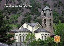 Andorra La Vella Sant Esteve Church New Postcard - Andorra