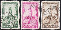 GERMANY Saar [1956] MiNr 0373-75 ( O/used ) - 1947-56 Allierte Besetzung