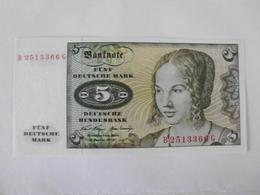 Deutschland 5 Mark 1970, Ro-269a, Unc., - [ 7] 1949-… : RFA - Rep. Fed. De Alemania