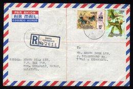Malaysia Registered Cover From Kota Kinabalu To Tegal Indonesia 1973 - Malaysia (1964-...)