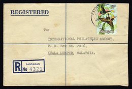 Malaysia Registered Cover From Sandakan To Kuala Lumpur 1972 - Malaysia (1964-...)