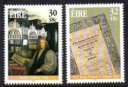 Ireland 2001 Literary Anniversaries Set Of 2, MNH, SG 1400/1 - 1949-... Republiek Ierland