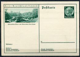 """German Empires,DR 1934 Ganzsache Mi.Nr.P232/094 """"Lernt Deutschland Kennen!-Bad Polzin,Teich Mit Schwäne""""1 GS Blanco - Ganzsachen"""