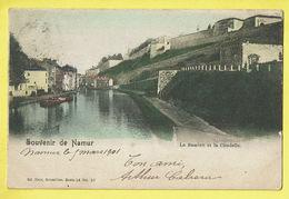 * Namur - Namen (La Wallonie) * (Ed Nels, Série 16, Nr 57 - Couleur) La Sambre Et La Citadelle, Péniche, Bateau, Quai - Namur
