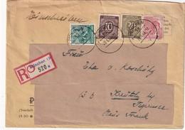 ALLEMAGNE ZONE AAS 1948 LETTRE RECOMMANDEE DE MÜNCHEN - Gemeinschaftsausgaben