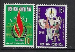 """Viet-Sud YT 339 & 340 """" Droits De L'Homme """" 1968 Neuf** MNH - Viêt-Nam"""