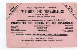 BUVARD ----   L'ALLIANCE Des TRAVAILLEURS ---- BREST - Autres