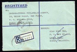 Malaysia Registered Cover From Lahad Datu To Kuala Lumpur 1974 - Malaysia (1964-...)