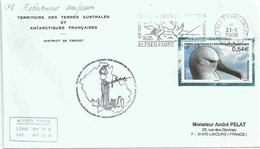 YT 467 - Albatros à Bec Jaune - Secap D'Alfred Faure - Crozet - Grands Albatros - Covers & Documents