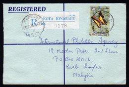 Malaysia Registered Cover From Kota Kinabalu To Kuala Lumpur 1973 - Malaysia (1964-...)