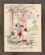 """Image Collée Sur Un Support Cartonné ,   """" Alors...t'as Peur De Monter Dans L'arbre Et Tu Parles D'etre Aviateur...."""" - Old Paper"""