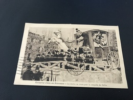 Carnaval D'AIX EN PROVENCE Les étoiles En Route Pour La Conquete Du Dollar - 1937 Timbrée - Aix En Provence