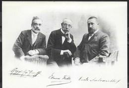 RIPRODUZIONE DI FOTO (1899) DEI SOCI DITTA FRETTE - FORMATO GRANDE 17X12 - VIAGGIATA 2017 - Photographs