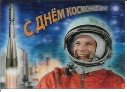 Russia 2019 Space Post Card Yuri Gagarin ,3-D Stereo ,# 2019-069,VF !! - Astronomy
