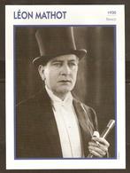 PORTRAIT DE STAR 1930 FRANCE - ACTEUR LEON MATHOT - ACTOR CINEMA FILM - Fotos