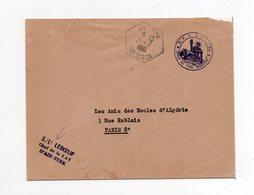 !!! PRIX FIXE : ALGERIE, CACHET AINT TURK DU 21/7/1961 SUR LETTRE EN FRANCHISE POUR LA FRANCE - Briefe U. Dokumente