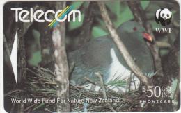 NEW ZEALAND(GPT) - WWF/Chatham Island Pigeon($50)(reverse TELECOM New Zealand Ltd), CN : 141E(normal 0), Used - Neuseeland