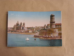 MARSEILLE Le Fort Saint-Jean Et La Cathédrale  Département 13 Bouches Du Rhone Carte Postale France - Marseille